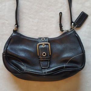 Coach Black leather small purse